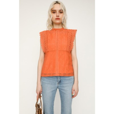SCALLOPED SHOULDER LACE トップス L/ORG1