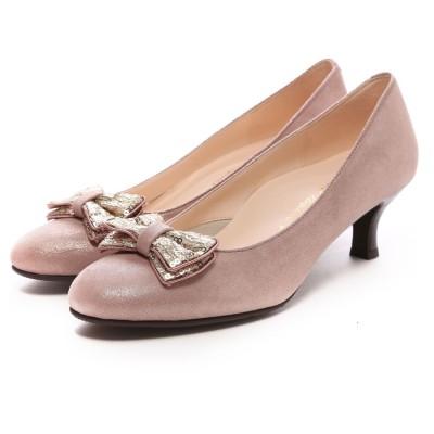 ビューフォートエレガンス BeauFort elegance Eウイズウォーキングパンプス(ピンク)