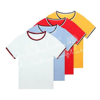 スクールTシャツ 男子Tシャツ90cm〜185cm 学生服 ワイシャツ小学生 中学生 高校生 女の子 制服長袖Tシャツ  男女兼用