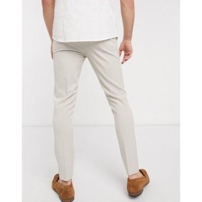 エイソス メンズ カジュアル ボトムス ASOS DESIGN super skinny smart pants in ice gray Ice gray