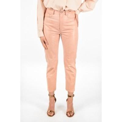 DROME/ドローメ Pink レディース Leather 5 Pockets Pants dk