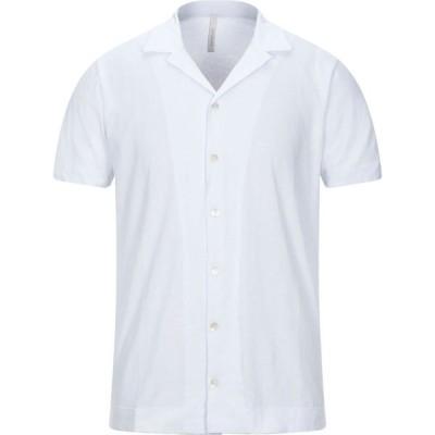 ベルウッド BELLWOOD メンズ シャツ トップス solid color shirt White