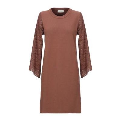 VICOLO ミニワンピース&ドレス ブラウン one size コットン 100% ミニワンピース&ドレス