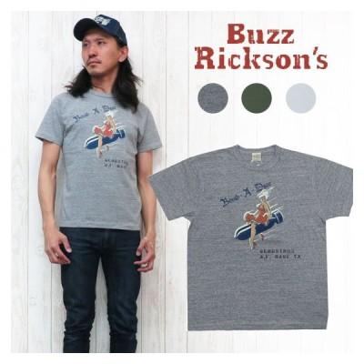 バズリクソンズ Buzz Rickson's SLUB YARN 半袖 プリント Tシャツ ステンシル風 BOMB-A-DEAR br77596