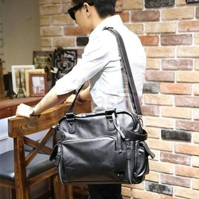 人気新品 ビジネスバックトートバッグ メンズ ショルダーバッグ 無地 ビジネス カジュアル2way鞄カバン かばん メンズ 斜めがけ 多用 実用性 大容量 出張