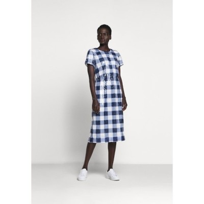 ジェイクルー ワンピース レディース トップス THERESA DRESS GINGHAM SEQUIN - Cocktail dress / Party dress - navy/ivory