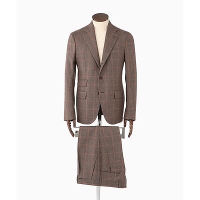<DE PETRILLO(Men)/デ・ペトリロ> ウインドペーン 1プリーツ スーツ ナポリ 579ブラウン【三越伊勢丹/公式】
