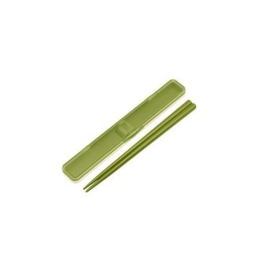 スケーター 抗菌音の鳴らない箸箱セット/レトロフレンチ グリーン
