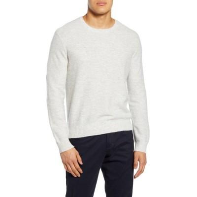 ヴィンス メンズ ニット&セーター アウター Crew Neck Linen & Cashmere Sweater H WHITE