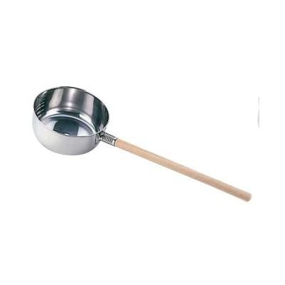 18-8 水杓子9cm/木柄  7-0190-0201 8-0194-0201