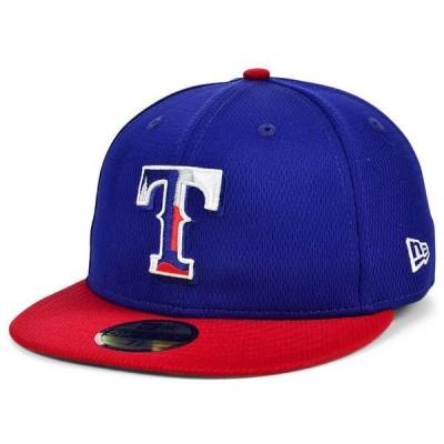 ニューエラ 帽子 アクセサリー メンズ Texas Rangers 2020 Men's Batting Practice Fitted Cap LightNavy/Red