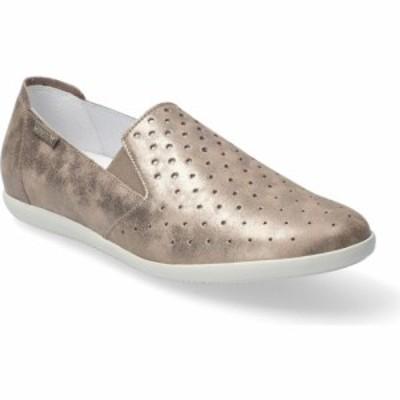 メフィスト MEPHISTO レディース スリッポン・フラット シューズ・靴 Korie Perforated Slip-On Dark Taupe Smooth Leather