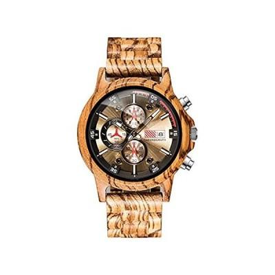 送料無料!Mens Wooden Watches Personalized Stylish Wood Quartz Casual Wristwatches fo