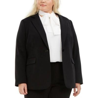 バースリー Bar III レディース スーツ・ジャケット 大きいサイズ アウター Trendy Plus Size One-Button Blazer Black
