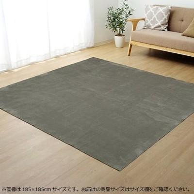 ラグ カーペット (ホットカーペット対応) 『イーズ』 グレー 約185×240cm 3畳 3963529