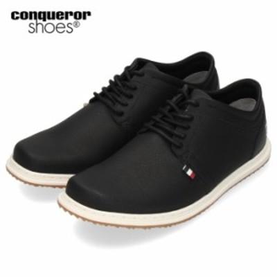 コンカラー シューズ マンハッタン 165 conqueror MANHATTAN BLACK メンズ スニーカー 靴