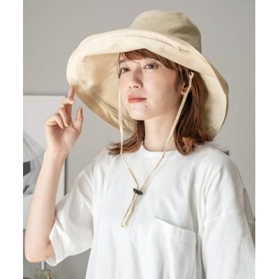 VitaFelice / 折りたたみコットンツバ広ハット WOMEN 帽子 > ハット