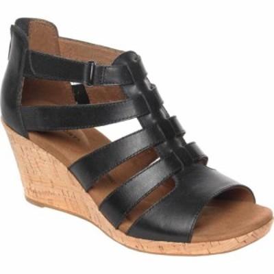 ロックポート Rockport レディース サンダル・ミュール グラディエーター シューズ・靴 Briah Gladiator Sandal Black Leather