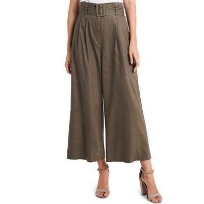 ヴィンスカムート レディース カジュアルパンツ ボトムス Stretch Linen Blend Belted Wide Leg Pants