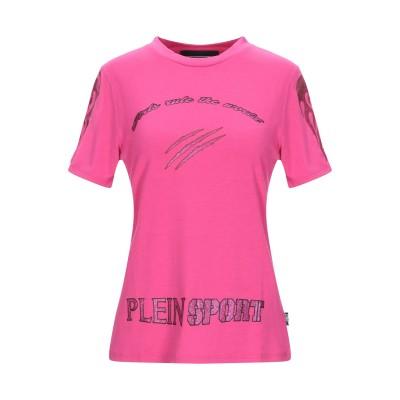 プレイン・スポーツ PLEIN SPORT T シャツ フューシャ S ポリエステル 67% / レーヨン 33% T シャツ