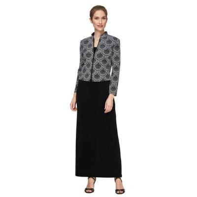 ユニセックス スカート ドレス Solid Column Dress with Printed Mandarin Neck Zip Jacket