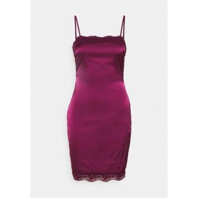 ミスガイデッド ワンピース レディース トップス BODYCON MINI DRESS - Day dress - burgundy