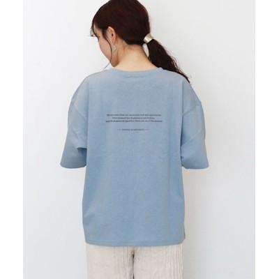 tシャツ Tシャツ 胸ポケット付きバックロゴコットンTシャツ