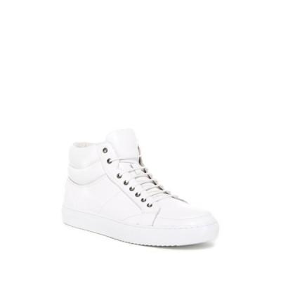 ザンザラ メンズ スニーカー シューズ Clef Mid Sneaker WHITE