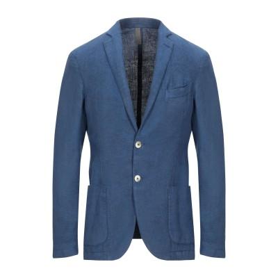 ASFALTO テーラードジャケット ブルー 48 コットン 63% / 麻 37% テーラードジャケット
