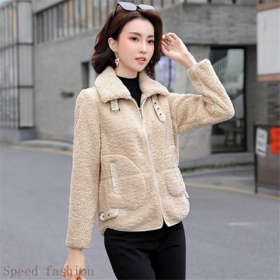 ジャケット ブルゾン ジップアップ フェイクファー ファージャケット アウター 高級 おしゃれ 暖かい もこもこ 30代 40代 20SF11028
