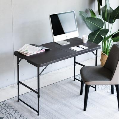 Amos-118-61木紋手提折疊式升降戶外露營餐桌