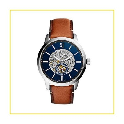 Fossil Men's Townsman Auto Automatic Leather Multifunction Watch, Color: Silver/Blue, Brown (Model: ME3154)並行輸入品