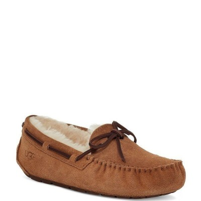 アグ レディース サンダル シューズ UGG Dakota Water Resistant Suede Slippers Chestnut