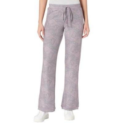 レディース パンツ Cozy Knit Rib Paneled Lounge Pants