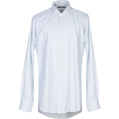 パルジレリ PAL ZILERI メンズ シャツ トップス checked shirt White