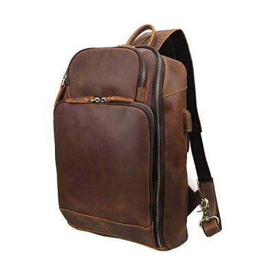 OakHide Vintage Mens Genuine Leather Sling Chest Bag 2 in 1 Strap Backpack for 12.5 inch Ipad/13.3 Inch Laptop 並行輸入品