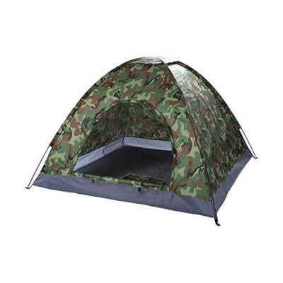 送料無料!OCDAY Camping Tent Waterproof Pop-Up Outdoor Sports Tent,3-4 Person, with Carrying Bag UV Protect Sun Shelter Army Camouflage