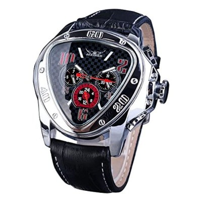 Jaragar ファッションスポーツトライアングルレーシングデザイン自動メンズ腕時計