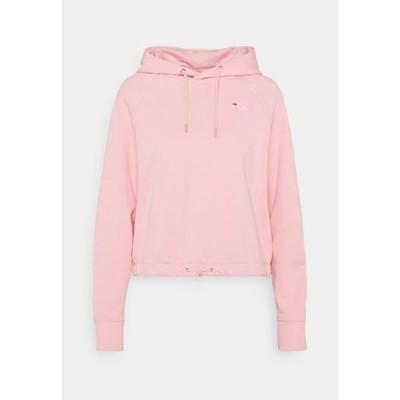 フィラ レディース スウェット ELAXI CROPPED HOODY - Sweatshirt - coral blush