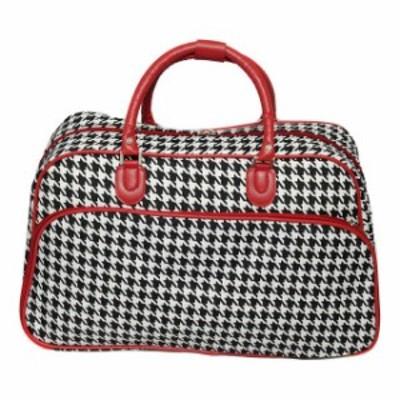 World Traveler ワールドトラベラー 旅行用品 キャリーバッグ World Traveler Houndstooth 21&#034 Carry-On Duffel Bag Rolling Duffel