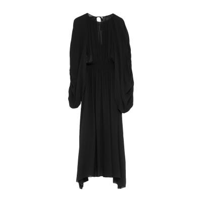 ロシャス ROCHAS 7分丈ワンピース・ドレス ブラック 40 レーヨン 100% 7分丈ワンピース・ドレス