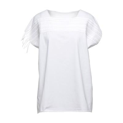 PIERANTONIO GASPARI T シャツ ホワイト 40 コットン 93% / ポリウレタン 7% T シャツ