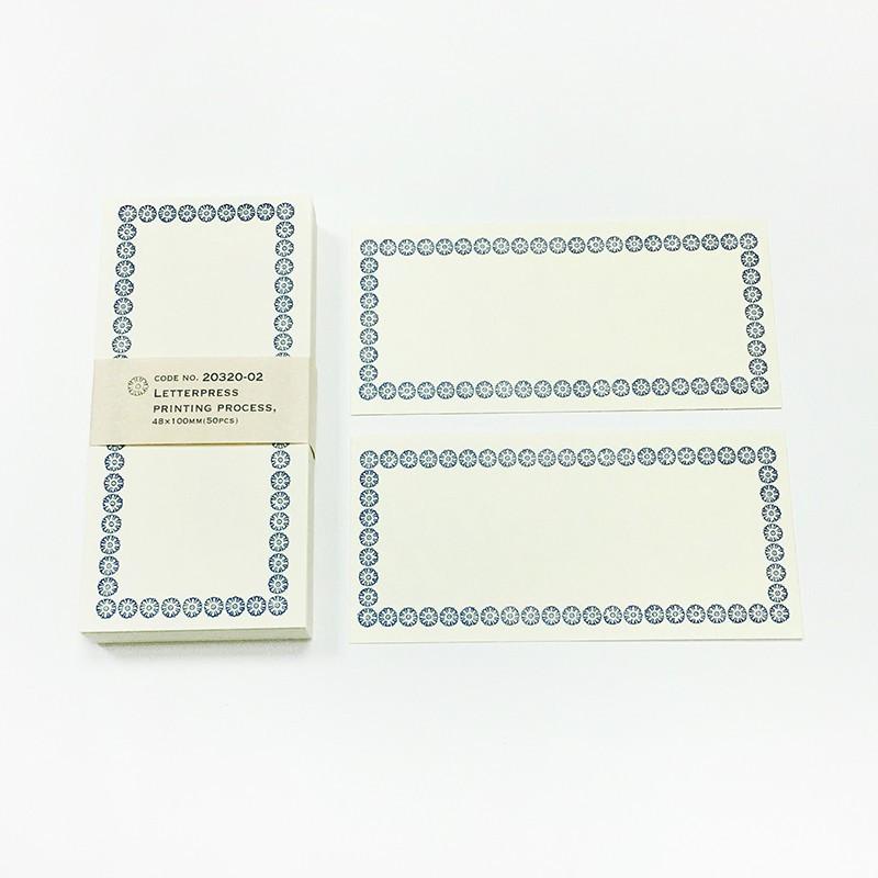 倉敷意匠 凸版印刷 Memo小卡【藍 (20320-02)】