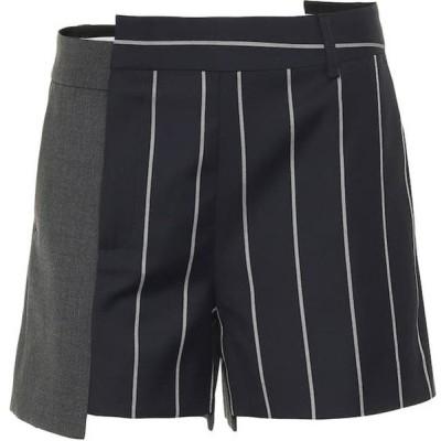 モンス Monse レディース ショートパンツ ボトムス・パンツ pinstriped wool shorts Midnight/Ivory