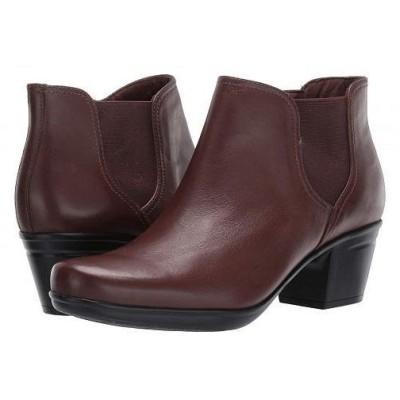 Clarks クラークス レディース 女性用 シューズ 靴 ブーツ アンクルブーツ ショート Emslie Noreen - Dark Brown Leather