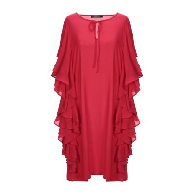 FISICO ミニワンピース&ドレス レッド XS レーヨン 100% ミニワンピース&ドレス