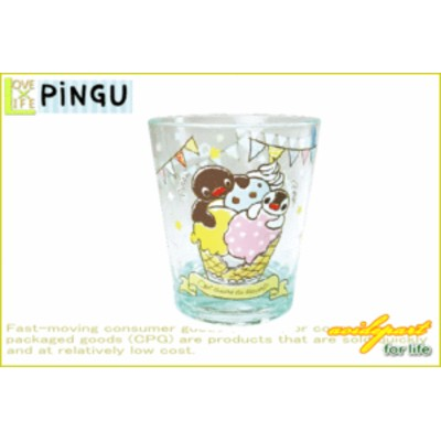 【ピングー】【PINGU】カラークリスタルカップ【アイスクリーム】【コウテイペンギン】【アニマル】【アニメ】【ペンギン】【スイス】【