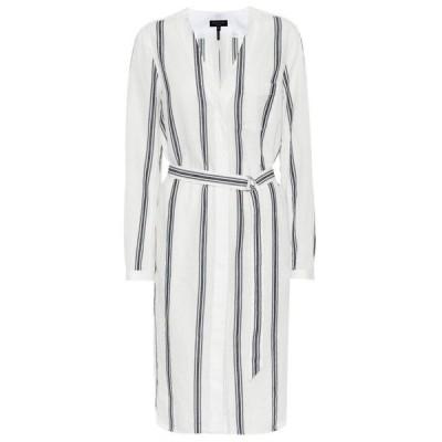 ラグ&ボーン Rag & Bone レディース ワンピース ワンピース・ドレス Alyse cotton and linen dress Ivory/Navy