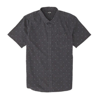 ビラボン メンズ シャツ トップス All Day Jacquard Short-Sleeve Shirt Black