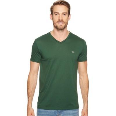 ラコステ Lacoste メンズ Tシャツ Vネック トップス Short Sleeve Pima Jersey V-Neck T-Shirt Green